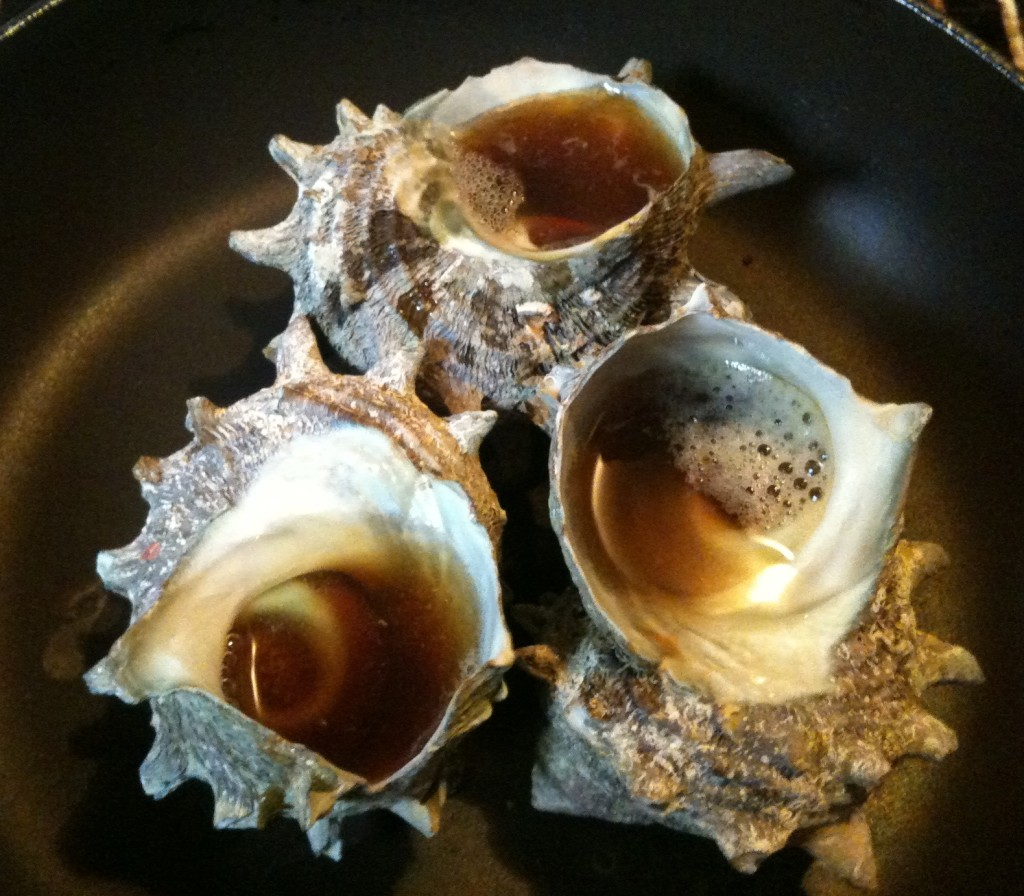 Tsuboyaki of Turban Shell (Japanese food)