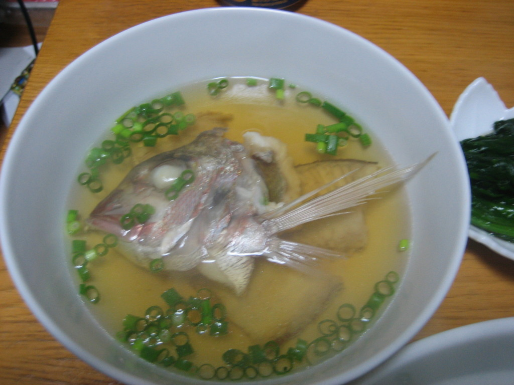 sea bream (snapper) soup