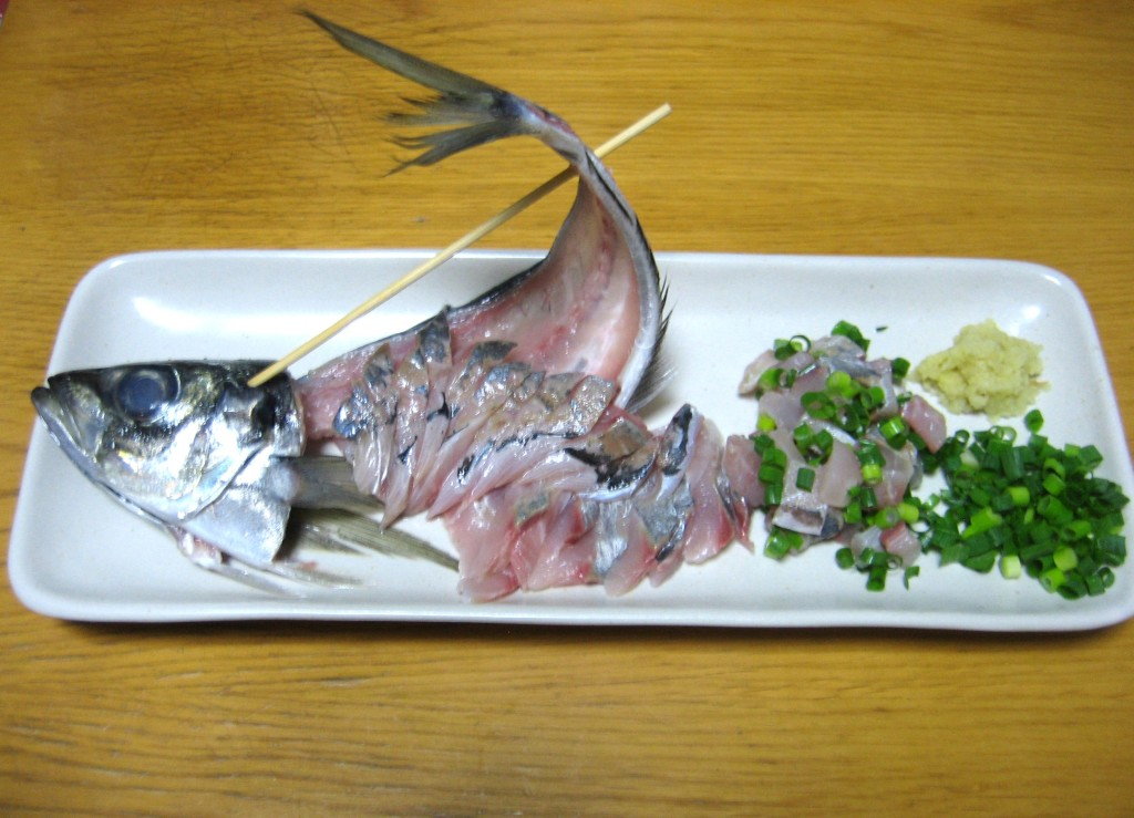 Sashimi of jack mackerel aji no sashimi food in japan for Aji 53 japanese cuisine