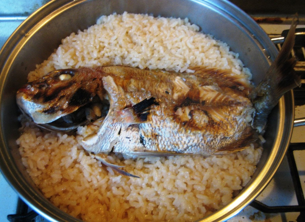 Japanese Taimeshi - Sea bream rice