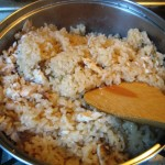 cooking Japanese sea bream rice