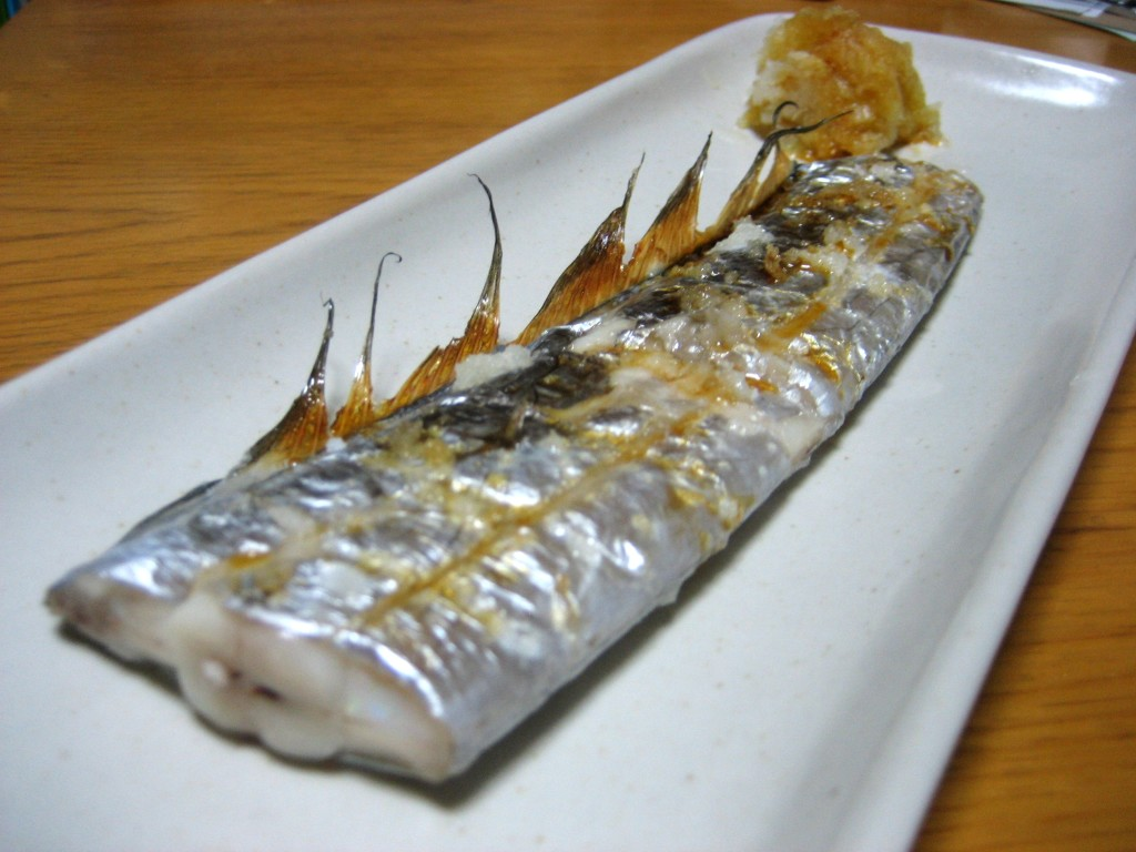 Japanese grilled fish, catlass fish, tachiuo