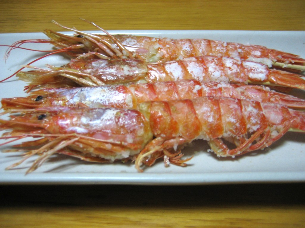 grilled prawn, ebi no shioyaki