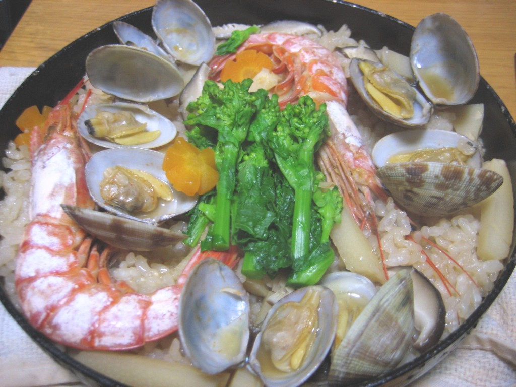 A Japanese style paella