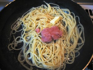 how to make tarako spaghetti