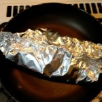 baked salmon in aluminul foil
