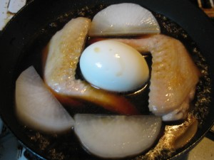 simmered chicken wing