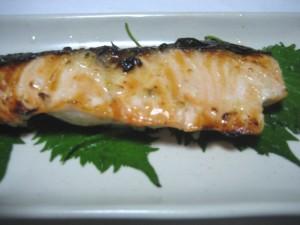 grilled salmon with sio koji