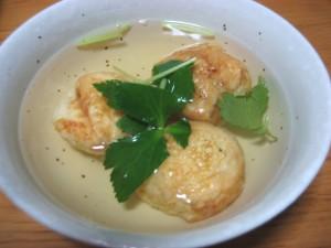 akashiyaki in a soup